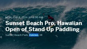 Sunset Beach Pro - Feb 8-Feb 20 (HI)