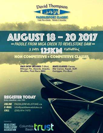 David Thompson Paddlesport Classic - Aug 18-Aug 20 (Canada, BC)