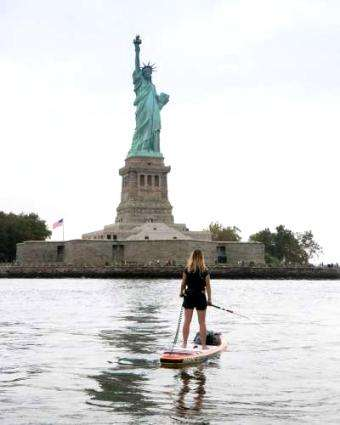 SUP International: Lizzie Carr's Hudson River expedition to spread awareness on plastic pollution
