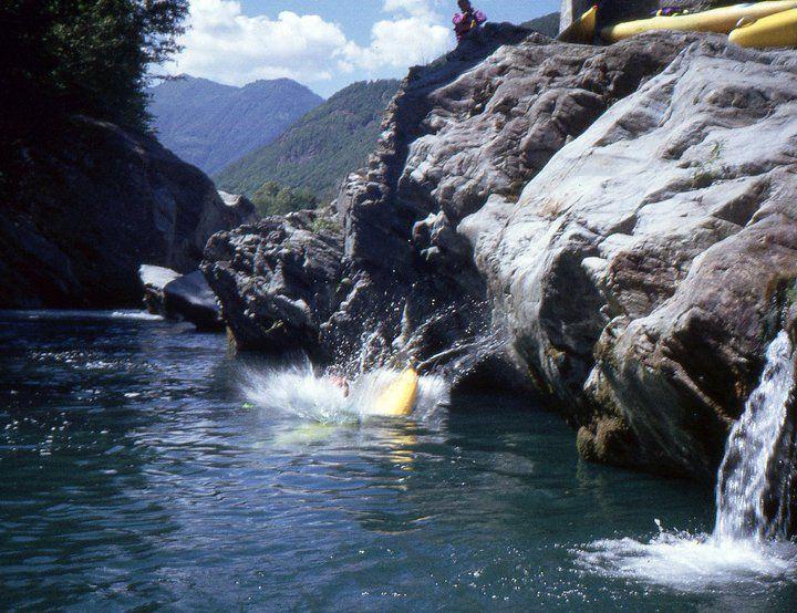 Italy - Sesia River - The Gorges - Kayak Gattino - 1990.