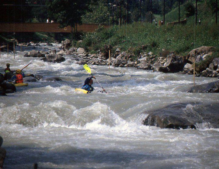 Italy - Noce River - Mezzana - Kayak Mountain Bat - 1992.