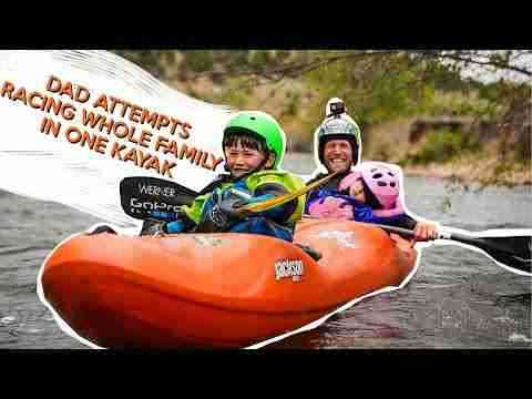 Dad attempts racing whole family in one kayak: Wild and Free Tour Vlog series