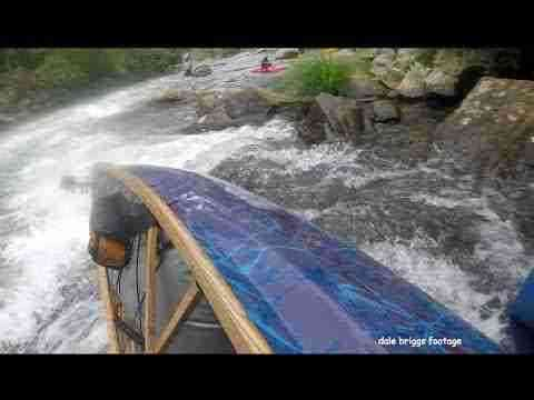 Off sides - up stream lean running far River Left in @ the NOC FALLS